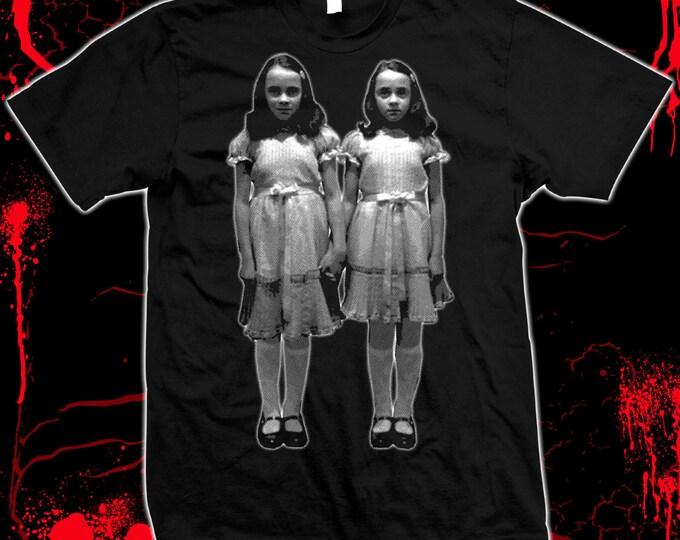 The Shining, Grady Twins, Kubrick - hand silk screened 100% cotton t-shirt