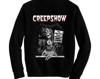 Creepshow - George A. Romero - Pre-shrunk, hand silk screened ultra soft 80/20 black cotton/poly blend sweatshirt