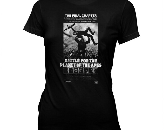 Battle For The Planet Of The Apes - Movie Poster - Women's Pre-shrunk, hand screened, 100% cotton T-shirt