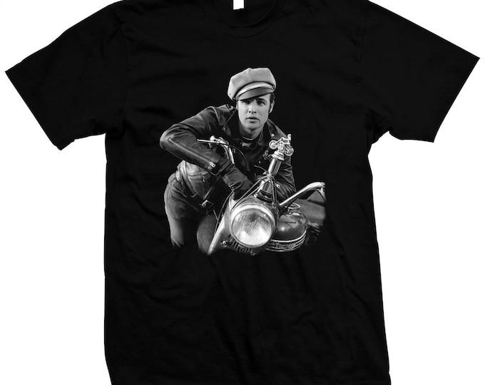 The Wild One - Marlon Brando - Pre-shrunk 100% hand made silk screen t-shirt