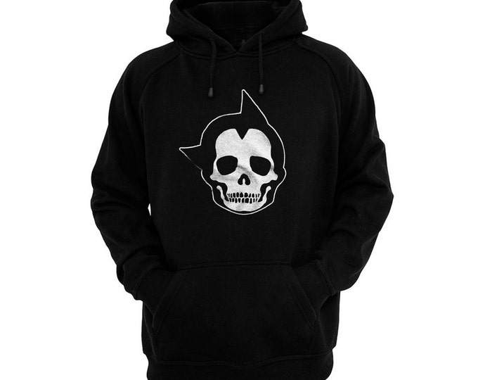 Astro Boy Skull - Hand silk-screened, pre-shrunk cotton blend pullover hoodie