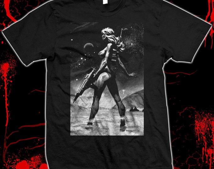 Galaxina - Dorothy Stratten, Playboy Playmate - Hand screened, Pre-shrunk 100% cotton t-shirt