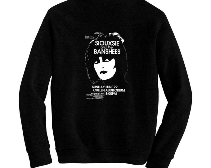 Siouxsie And The Banshees - Pre-shrunk, hand screened ultra soft 80/20 cotton/poly sweatshirt - Punk Rock