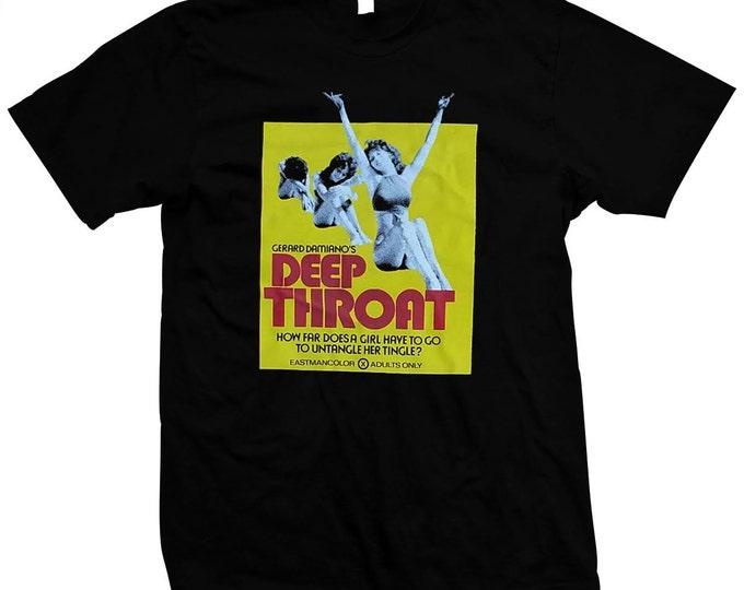 Deep Throat - Linda Lovelace - Porno Chic - Pre-Shrunk, Hand Silk-Screened, 100% Cotton T-Shirt
