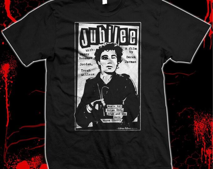Jubilee - Derek Jarman - Adam Ant - Jordan - Pre-shrunk, hand screened,100% cotton t-shirt