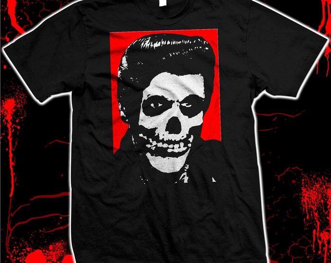 Misfits Crimson Ghost Elvis - Hand Made 100% cotton silk screened t-shirt