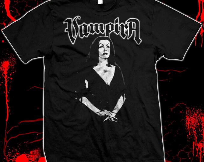 Vampira - Misfits - Danzig - Pre-shrunk, hand screened 100% cotton t-shirt