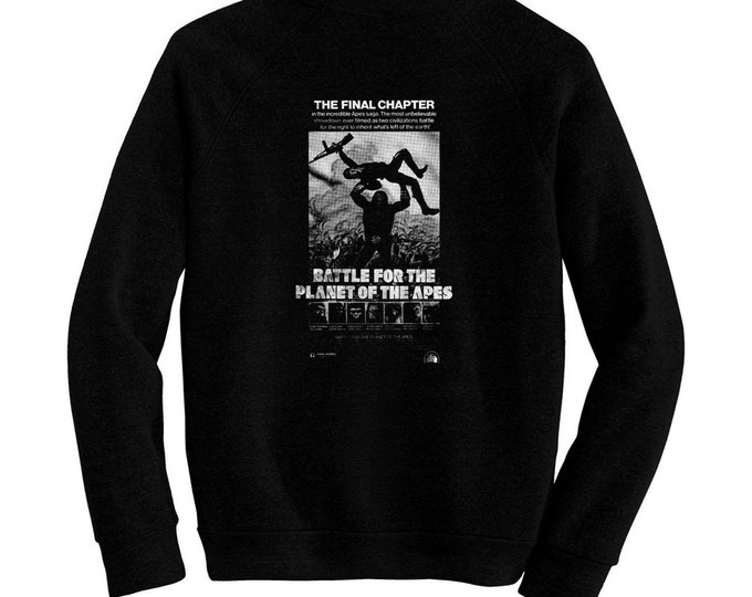 Battle For The Planet Of The Apes - Pre-shrunk, hand screened ultra soft 80/20 cotton/poly sweatshirt - Roddy McDowall