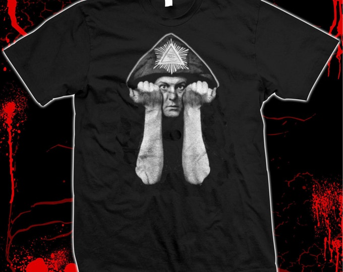 Aleister Crowley - Occult Black Magik - silk screened 100% cotton t-shirt