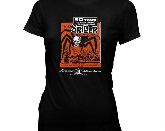 The Spider - Bert I. Gordon - AIP - Women's 100% cotton Pre-shrunk, hand screened T-Shirt
