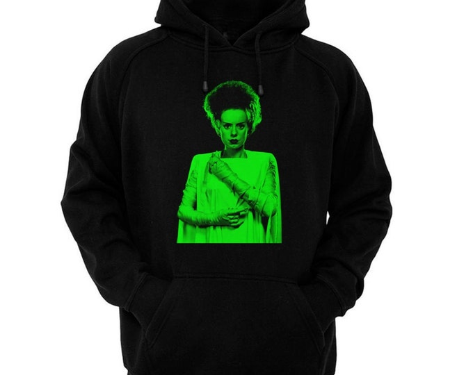 Bride Of Frankenstein, The - Elsa Lanchester - Hand silk-screened, pre-shrunk cotton blend pullover hoodie