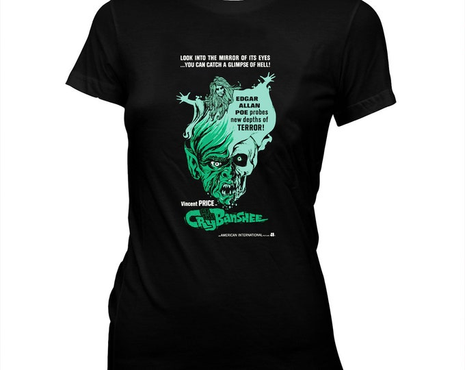 Cry Of The Banshee - Vincent Price - American International Pictures - Women's 100% cotton Pre-shrunk, hand screened T-Shirt