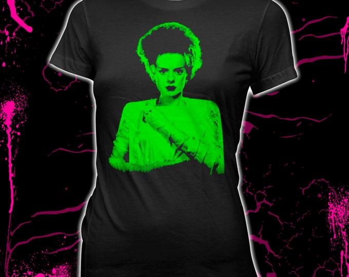 Bride of Frankenstein - Elsa Lanchester - Women's Pre-shrunk, hand-screened 100% cotton t-shirt