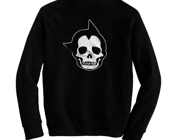 Astro Boy Skull - Pre-shrunk, hand screened ultra soft 80/20 cotton/poly sweatshirt- Mighty Atom