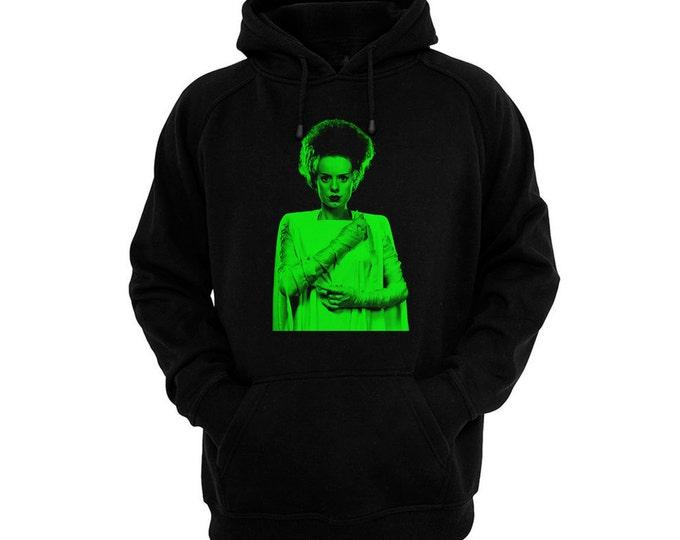 Bride Of Frankenstein, The - Elsa Lanchester - Hand silk-screened, pre-shrunk cotton blend pullover hoodie