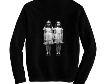 The Shining, Grady Twins, Kubrick - Pre-shrunk, hand silk screened ultra soft 80/20 black cotton/poly blend sweatshirt