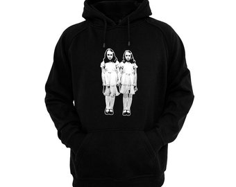 The Shining - Grady Twins - Hand silk-screened, pre-shrunk cotton blend pullover hoodie
