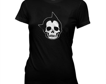 Astro Boy Skull - Women's Pre-shrunk, hand screened 100% cotton t-shirt