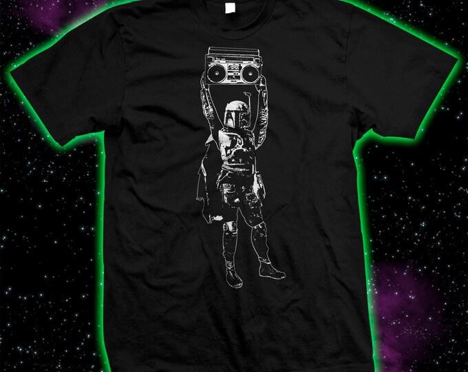 Boba Fett / Say Anything Mandalorian  mashup - Star Wars - Hand-screened 100% Cotton T-shirt