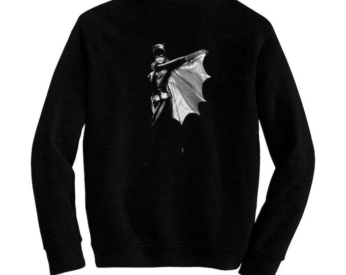 Batgirl - Pre-shrunk, hand screened ultra soft 80/20 cotton/poly sweatshirt - Yvonne Craig