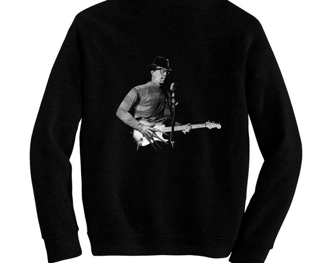 "Freddy ""Buddy"" Krueger - Nightmare On Elm Street - Pre-shrunk, hand silk screened ultra soft 80/20 black cotton/poly blend sweatshirt"