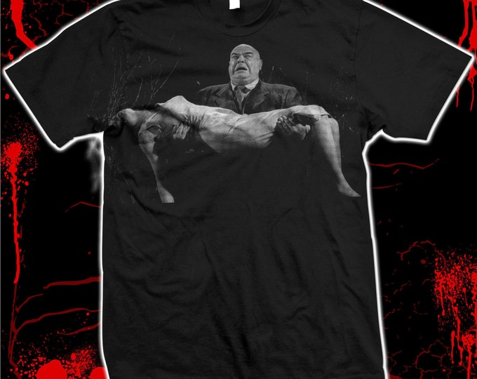 """Tor Johnson """"Plan 9 from Outer Space"""" - Ed Wood - Hand-Screened, pre-shrunk 100% Cotton T-shirt"""