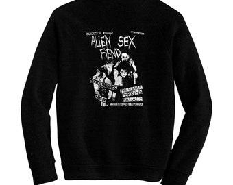 Alien Sex Fiend - Pre-shrunk, hand screened ultra soft 80/20 cotton/poly sweatshirt - Nik Fiend