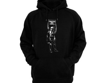 Boba Anything - Mandalorian Hand silk-screened, pre-shrunk cotton blend pullover hoodie
