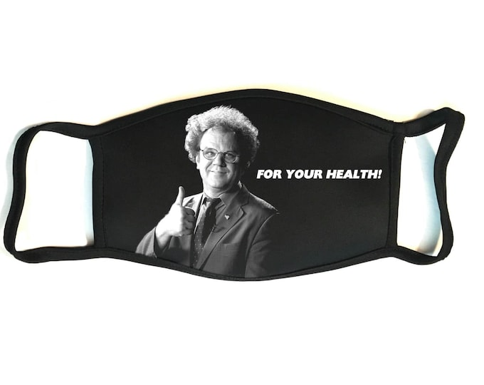 Dr. Steve Brule - Secure Fit, Hand Sewn, Reusable Multi-layered Cotton Face Mask