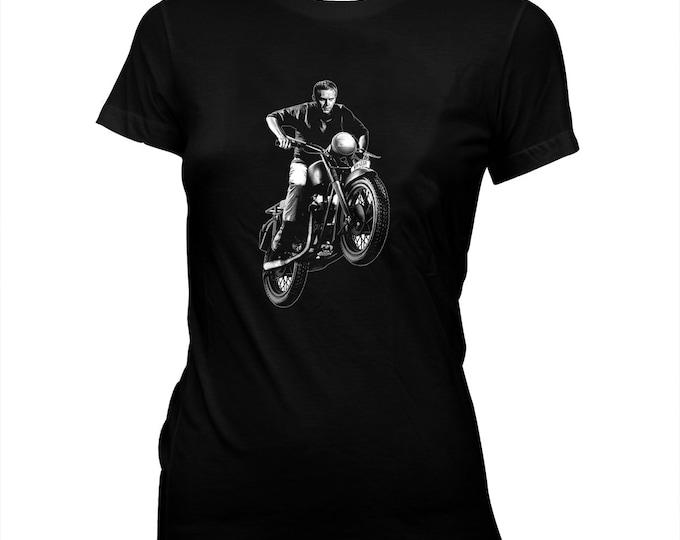 The Great Escape - Steve McQueen - Women's Hand Screened, Pre-Shrunk, 100% Cotton T-Shirt
