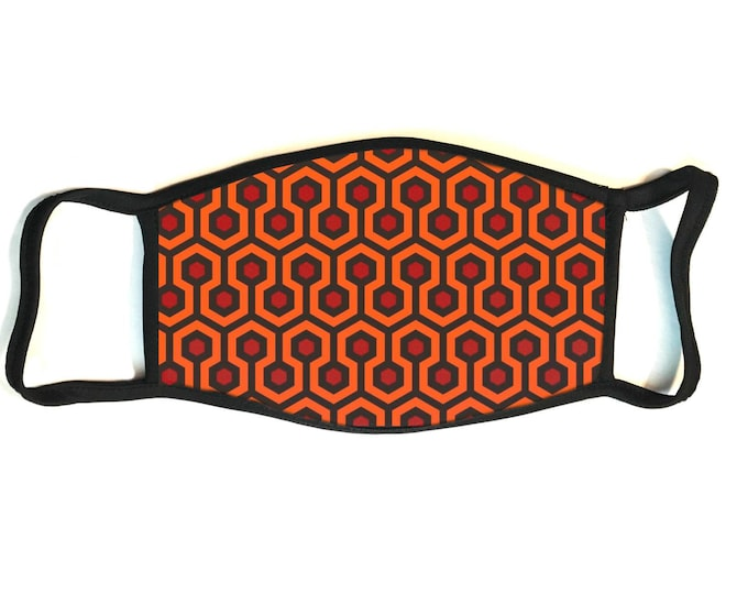 The Shining - Overlook Carpeting - Secure Fit, Hand Sewn, Reusable Multi-layered Cotton Face Mask