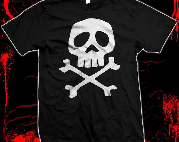 Captain Harlock Skull & Crossbones Pre-shrunk, hand screened 100% cotton t-shirt