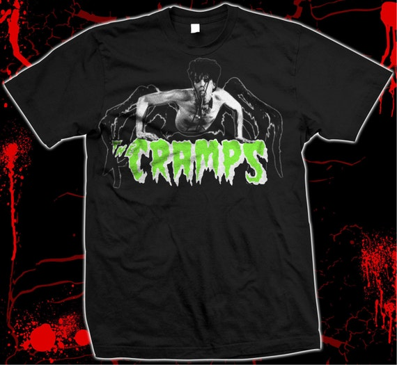 NEW BLACK CRAMPS LUX INTERIOR TOP PSYCHOBILLY S-2XL GOTH