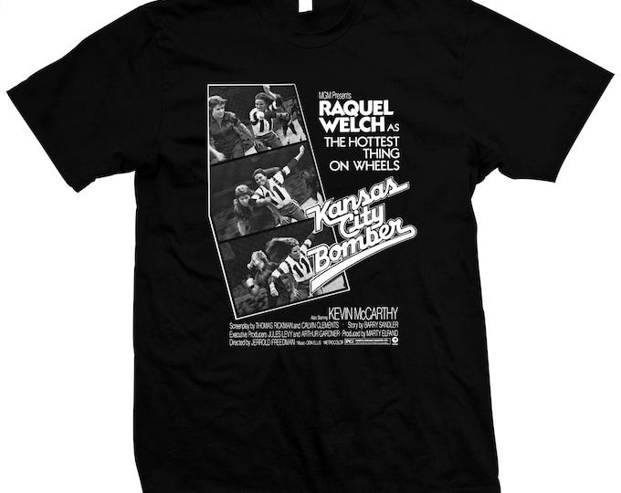 Kansas City Bomber - Raquel Welch - Roller Derby - Pre-shrunk, hand screened, 100% cotton t-shirt