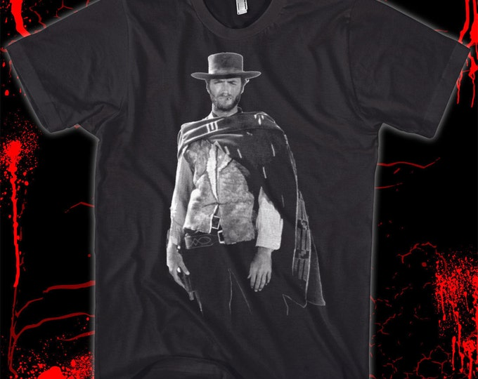 Clint Eastwood - The Man with No Name - 100% cotton silk-screened t-shirt