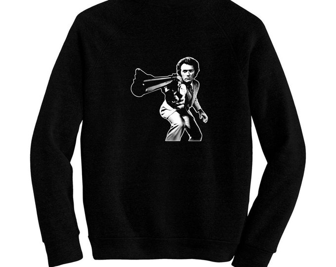 Dirty Harry - Pre-shrunk, hand screened ultra soft 80/20 cotton/poly sweatshirt - Clint Eastwood