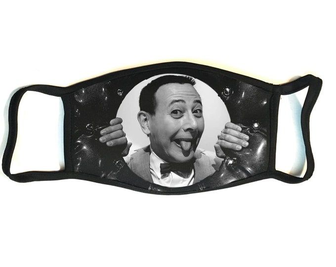 Pee-wee Herman - Secure Fit, Hand Sewn, Reusable Multi-layered Cotton Face Mask