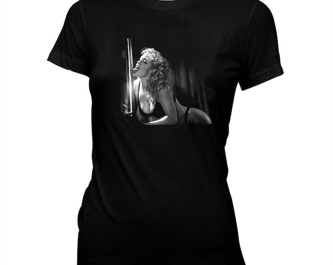 Showgirls - Elizabeth Berkley, Paul Verhoeven - Women's Hand screened, Pre-shrunk 100% cotton T-shirt