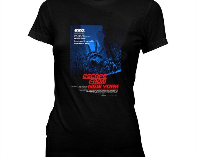 Escape From New York - Women's Hand Silk-screened, Pre-shrunk, 100% Cotton T-Shirt