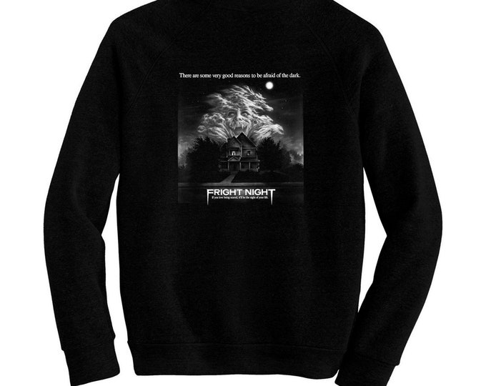 Fright Night - Pre-shrunk, hand screened ultra soft 80/20 cotton/poly sweatshirt - Roddy McDowall