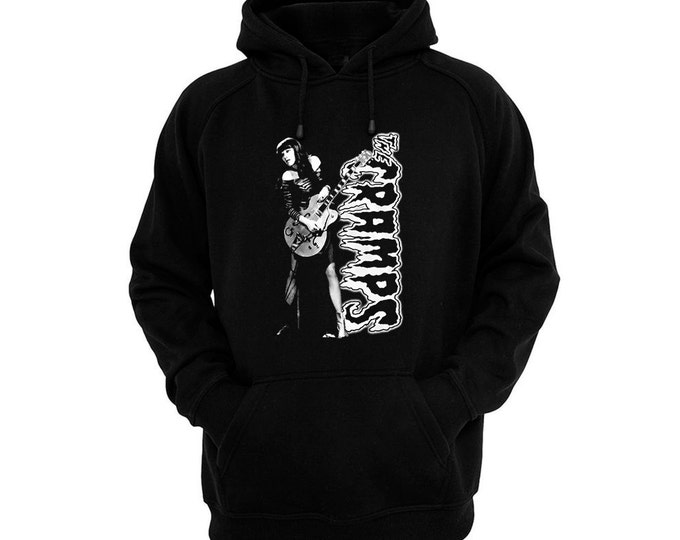 Cramps, The - Poison Ivy - Hand silk-screened, pre-shrunk cotton blend pullover hoodie