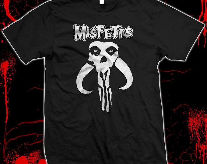 Misfetts - Boba Fett, Star Wars, Misfits, Danzig, Samhain Mandalorian  100% cotton t-shirt