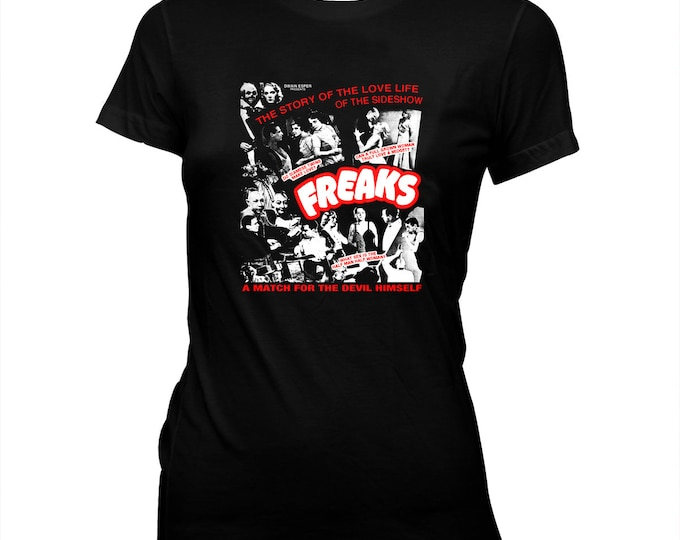 Freaks - Tod Browning - Johnny Eck - Women's Pre-shrunk, Hand screened 100% Cotton T-shirt