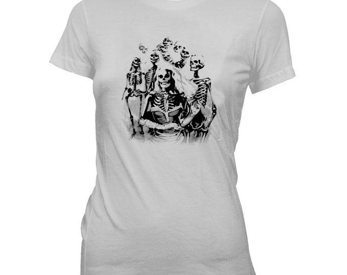 Skeleton Bridal Party - Women's Pre-shrunk, hand screened 100% cotton t-shirt