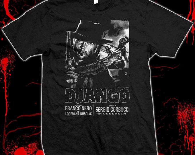Django - Franco Nero - Hand screened, Pre-shrunk 100% cotton t-shirt