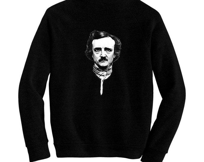 Edgar Allan Poe - Pre-shrunk, hand screened ultra soft 80/20 cotton/poly sweatshirt - Romanticism