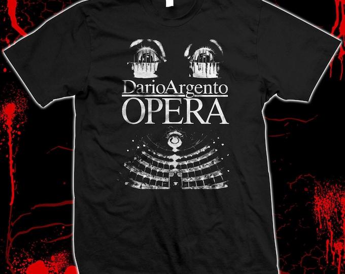Opera - Dario Argento, Giallo, Italian Horror - Hand screened, Pre-shrunk 100% cotton t-shirt