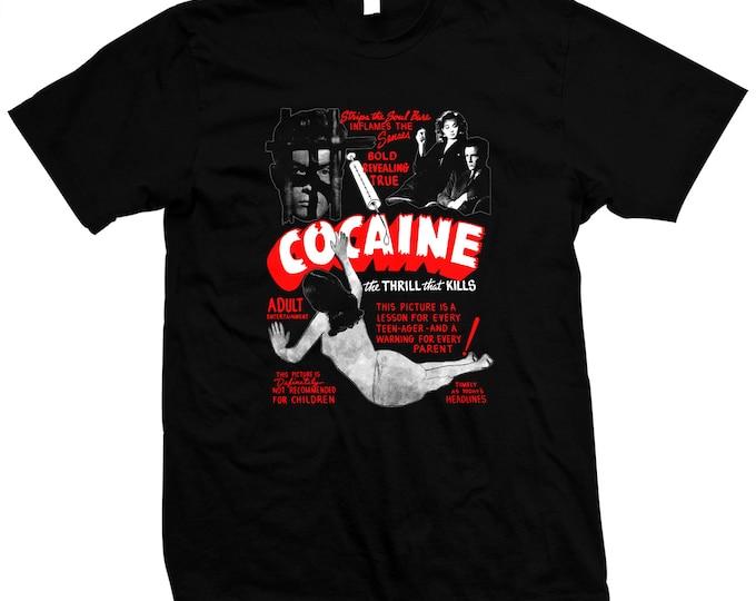 Cocaine - Hand silk screened, pre-shrunk 100% cotton t-shirt