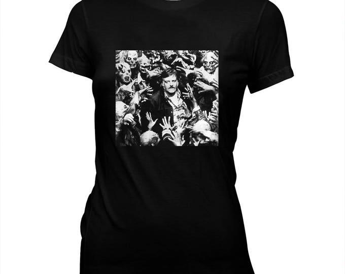 George Romero - Night of the Living Dead - Women's Hand-screened, Pre-shrunk 100% cotton t-shirt