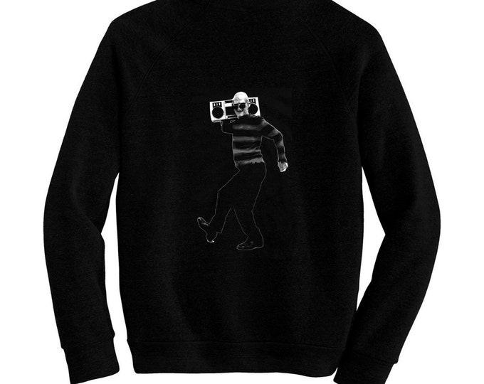 Freddy Krueger - A Nightmare on Elm Street, Wes Craven - Pre-shrunk, hand silk screened ultra soft 80/20 black cotton/poly blend sweatshirt